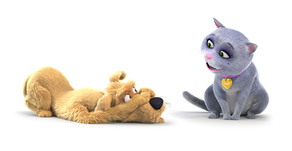Caninsulin.com animated cat and dog named Sugar and Spike